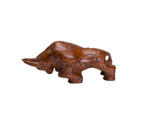 Wooden Bull Puzzle