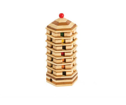 Wooden Pagoda Tower Puzzle