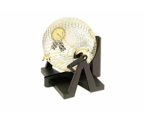 """8 1/2"""" Bingo Set with Gold Color Cage"""