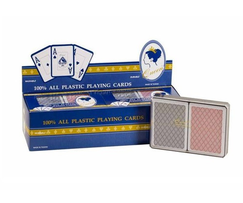 Queen Plastic Big Number Double Deck Cards