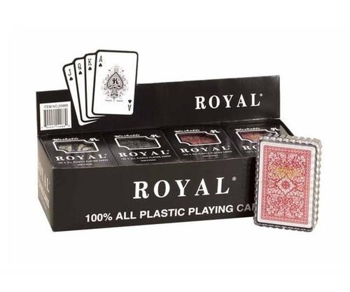 100% Plastic Poker Cards 12 Pack