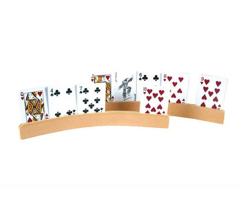 Curve shape Wooden Card Holders 2 Pc