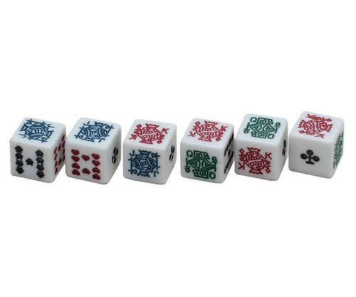 Poker Dice White 200 pcs