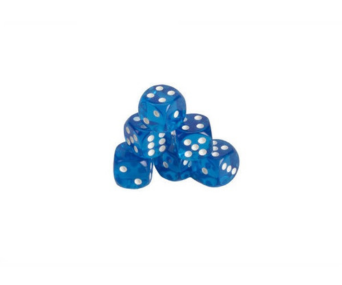 Blue Translucent Dice 200 pcs