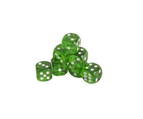 Green Translucent Dice 200 pcs