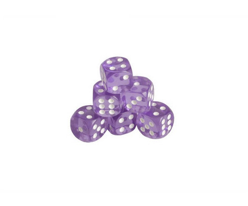 Purple Translucent Dice 200 pcs