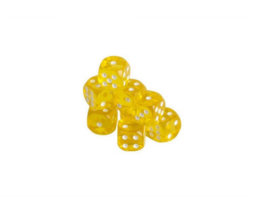 Yellow Translucent Dice 200 pcs