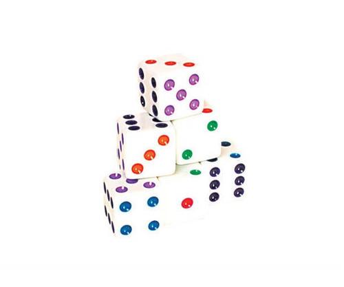 White Color Dot Dice 200 pcs