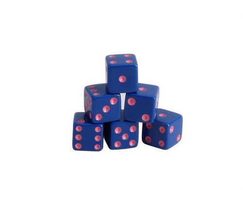 Blue Dice with Pink Pips 200 pcs