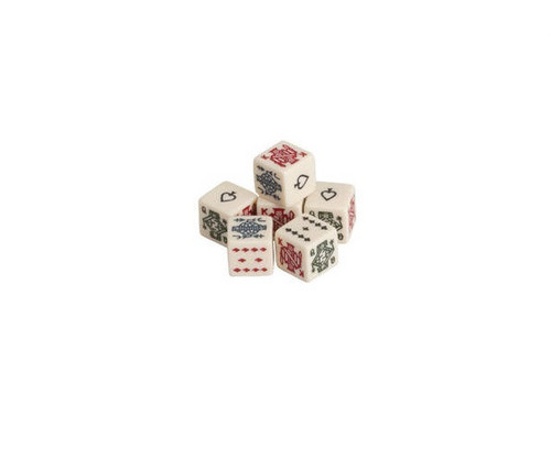 Ivory Color Poker Dice 200 pcs