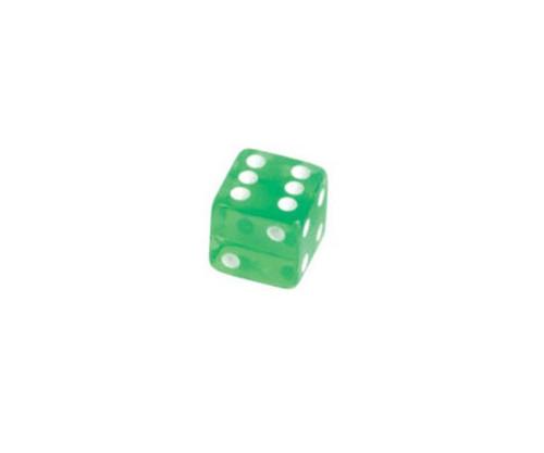 Green Translucent Dice 100 pcs
