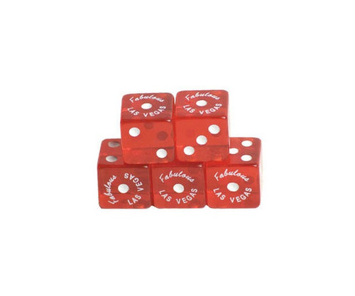 Red Translucence Dice Welcome To Las Vegas 100 pcs