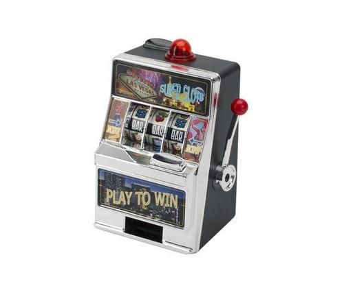 Mini Las Vegas Coin Bank Slot Machine