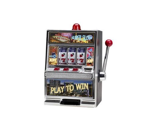 Large Las Vegas Coin Bank Slot Machine