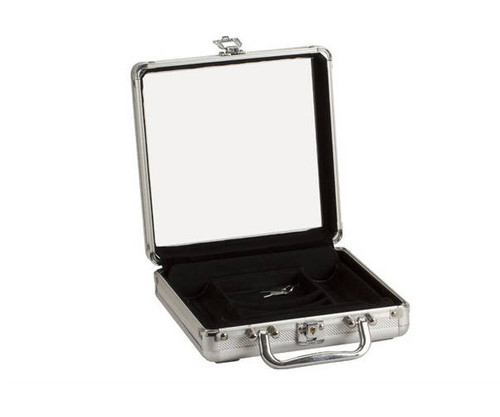 Aluminum Poker Case with Acrylic Window Lid Holds 100 Chips