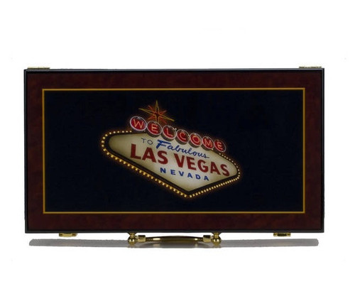 Glossy Las Vegas Poker Chip Case Holds 300 Chips