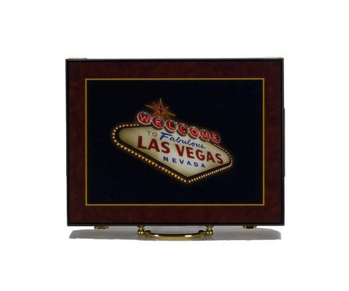 Glossy Las Vegas Poker Chip Case Holds 500 Chips