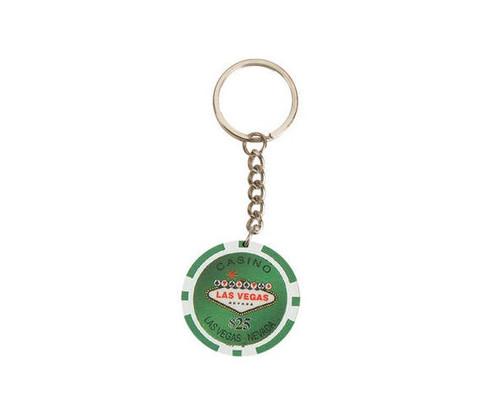Green $25 Las Vegas 11.5G Poker Chips 50 Pcs Key Chains