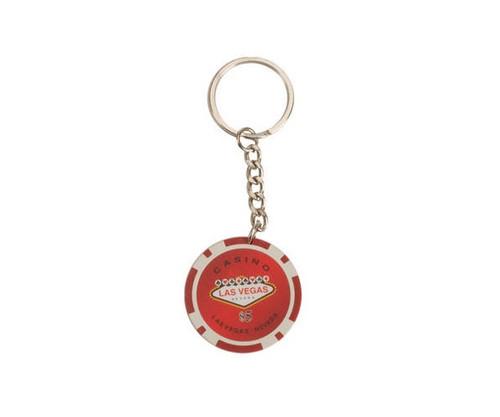 Red $5 Las Vegas 11.5G Poker Chips 50 Pcs Key Chains