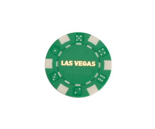 Green $25 Las Vegas Dice 11.5G Poker Chips 50 pcs