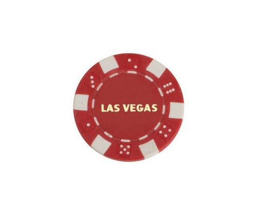 Red $5 Las Vegas Dice 11.5G Poker Chips 50 pcs