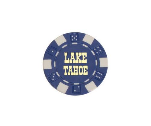Blue $50 Lake Tahoe Dice 11.5G Poker Chips 50 pcs