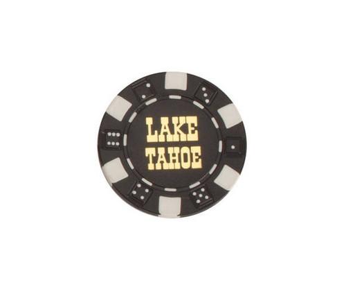 Black $100 Lake Tahoe Dice 11.5G Poker Chips 50 pcs