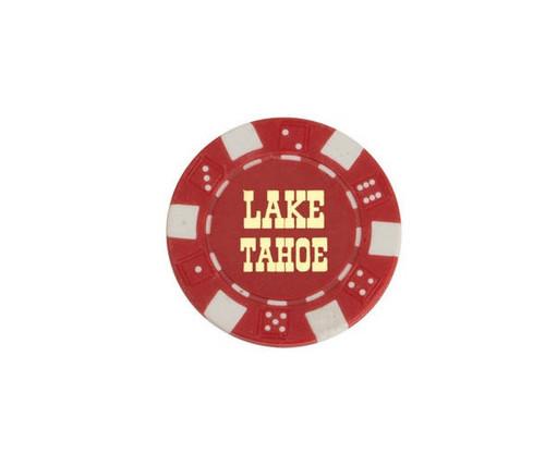 Red $5 Lake Tahoe Dice 11.5G Poker Chips 50 pcs