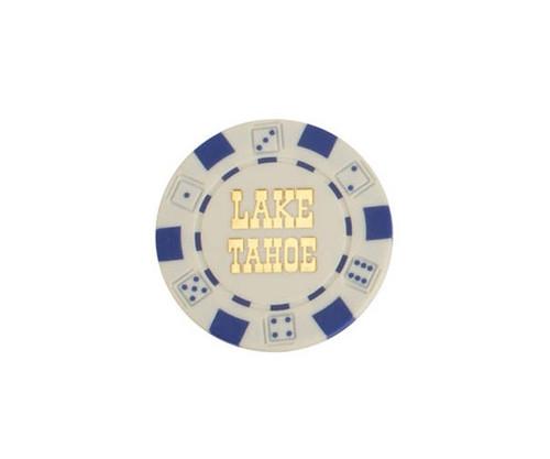 White $1 Lake Tahoe Dice 11.5G Poker Chips 50 pcs