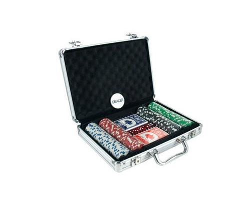 200 PC Dice Poker Set with Dice & Cards Aluminum Case