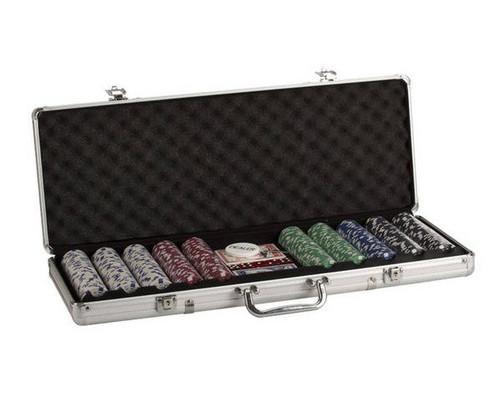 500 PC Dice Poker Set with Dice & Cards Aluminum Case