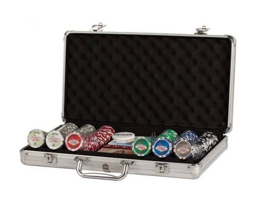 300 PC Las Vegas Poker Set with Dice & Cards Aluminum Case