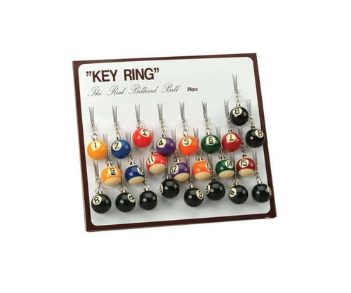 "1"" Assorted Billiard Ball Key Ring"