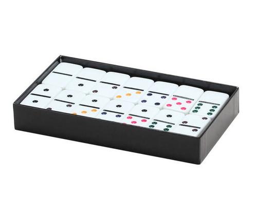 Dominoes Double 6 Jumbo Size Color Dot