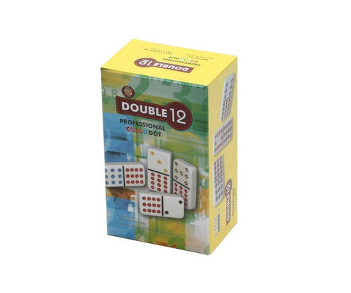 Dominoes Double 12 Professional Size Color Dot & Hub