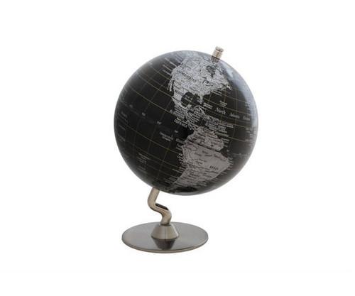 "5"" Black Globe With Silver Base"