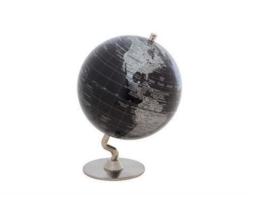 "5"" Dark Blue Globe With Silver Base"