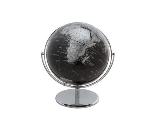"10"" Black Globe With Silver Base"