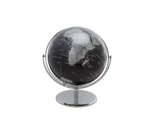 "10"" Dark Blue Globe With Silver Base"