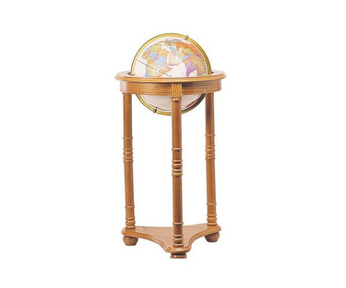 """34.5"""" Light Up Globe With Oak Stand"""