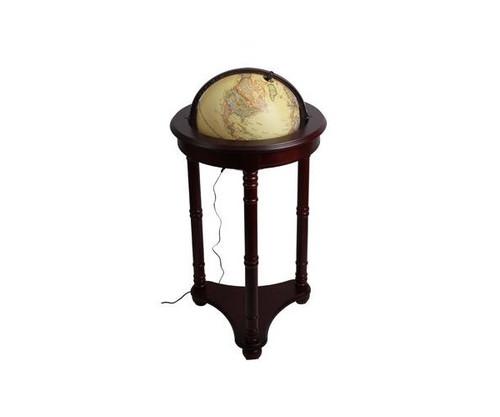 "34.5"" Light Up Globe With Mahogany Stand"