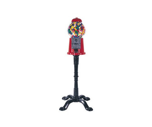"""15"""" Classic Red Gumball Machine With Stand"""