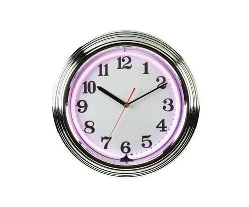 Purple Neon Clock