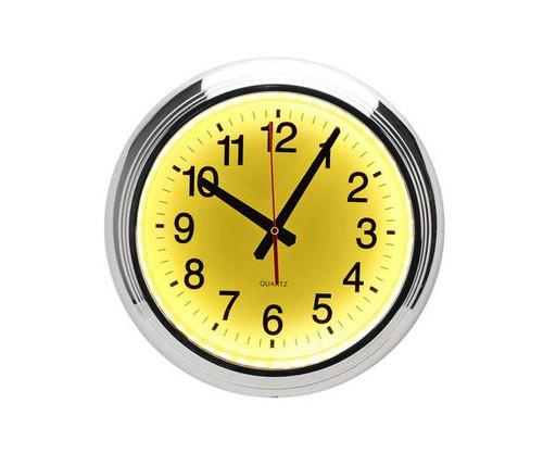 Yellow LED Wall Clock