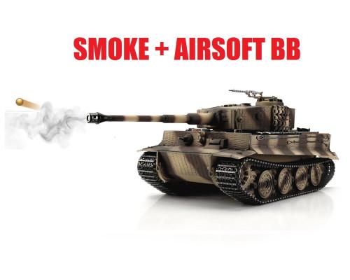 1/16 Torro Tiger I Late Version RC Tank 2.4GHz Airsoft Metal Edition PRO Smoke Barrel