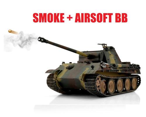 1/16 Torro German Panther G RC Tank 2.4GHz Airsoft Metal Edition PRO Smoke Barrel