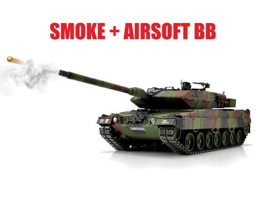 1/16 Torro Leopard 2A6 RC Tank 2.4GHz Airsoft Metal Edition PRO NATO Smoke Barrel
