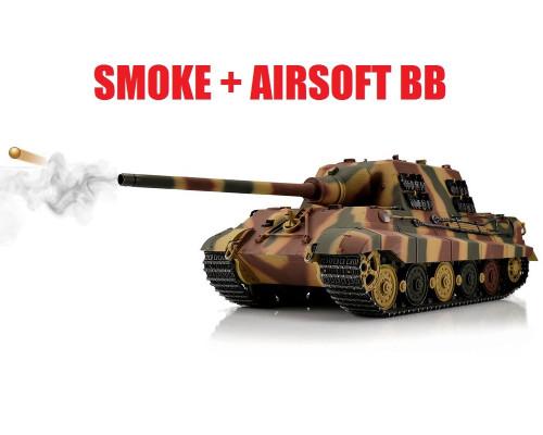 1/16 Torro German Jagdtiger RC Tank 2.4GHz Airsoft Metal Edition PRO Camo Smoke Barrel