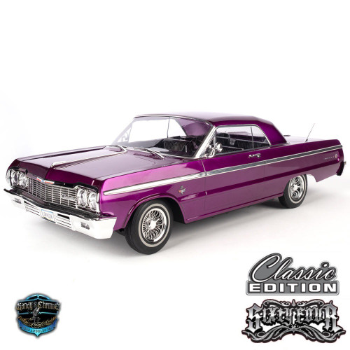 1/10 Chevrolet Impala SS  1964 RC Car Hopping Lowrider  Kandy & Chrome Edition Purple
