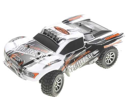 1/18 Storm Cross Country RC Short Course Truck Electric 4WD 2.4GHz Silver
